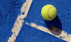 Pistas de tierra azul en el Mutua Madrid Open