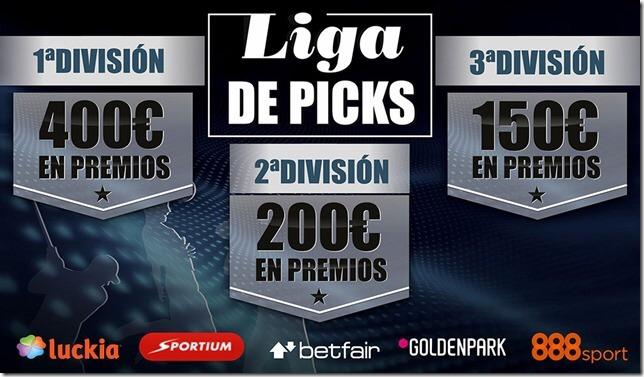 LIGA NUEVA DE PICKS CON 750 EUROS EN JUEGO y tres divisiones